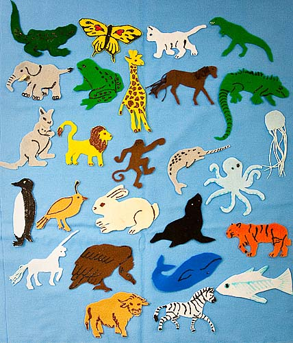 Animal abcs felt animal to learn the alphabet