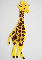 G is for Girafe, learn to read alphabet with felt animals