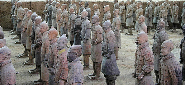 China history and geography terra cotta army figures found in a royal grave sciox Image collections