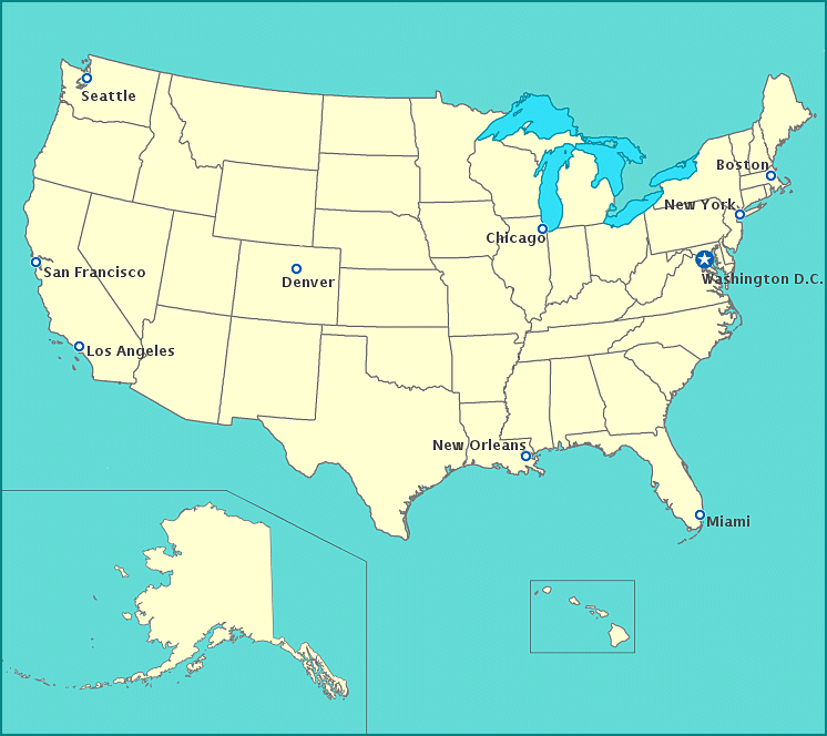 Map Of United States - United states map chicago