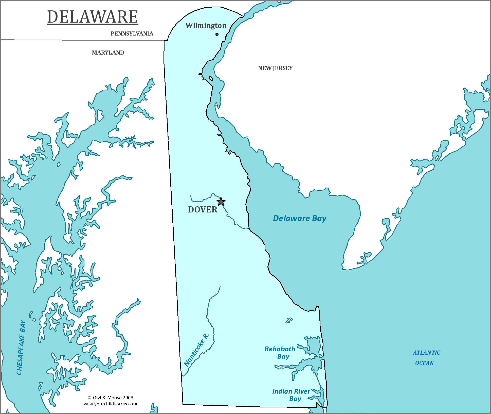 Delaware State Map  Map Of Delaware And Information About