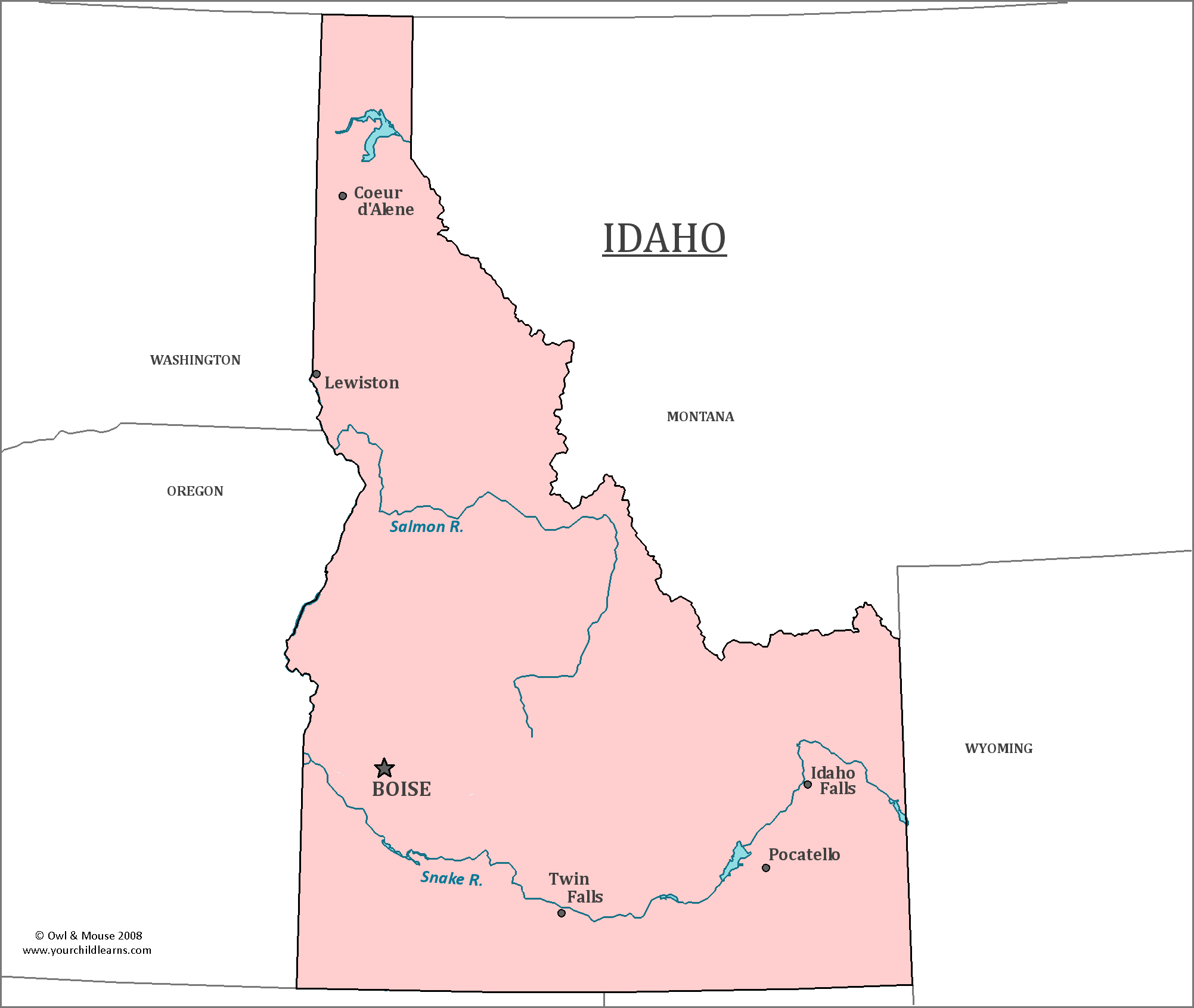 Idaho State Map Map Of Idaho And Information About The State - State of idaho map