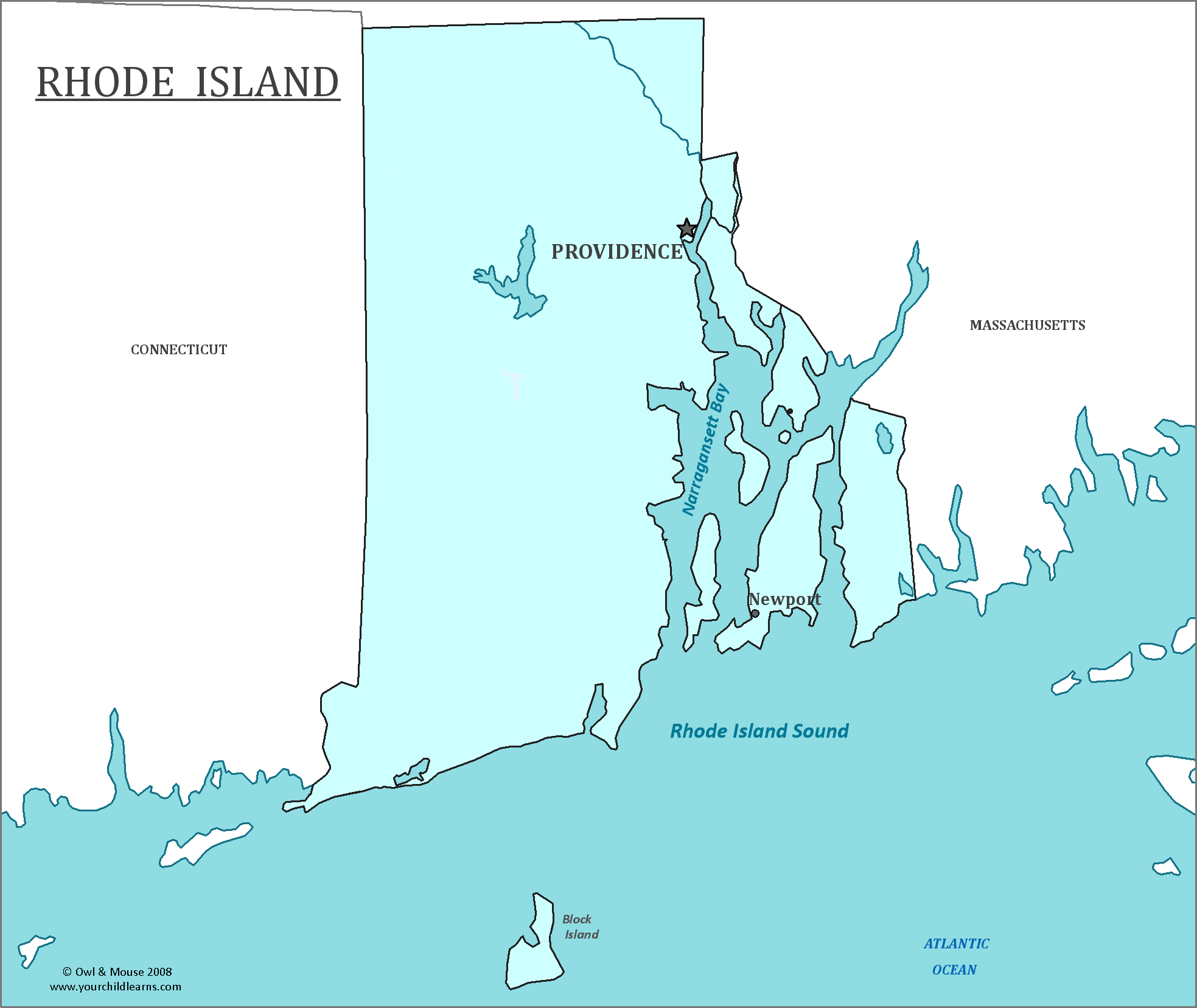 Rhode Island State Map  Map Of Rhode Island And