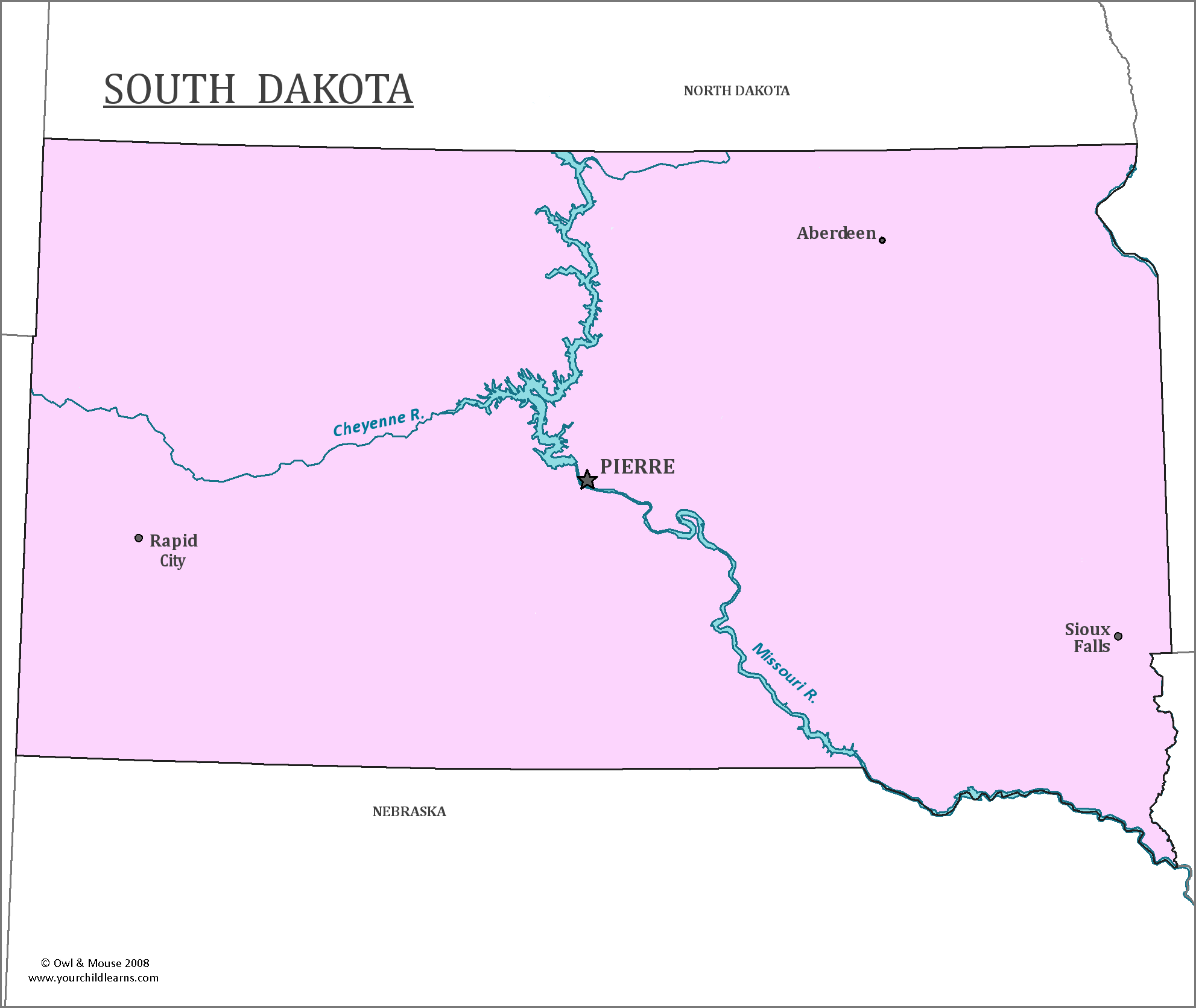 South Dakota State Map Map Of South Dakota And Information About