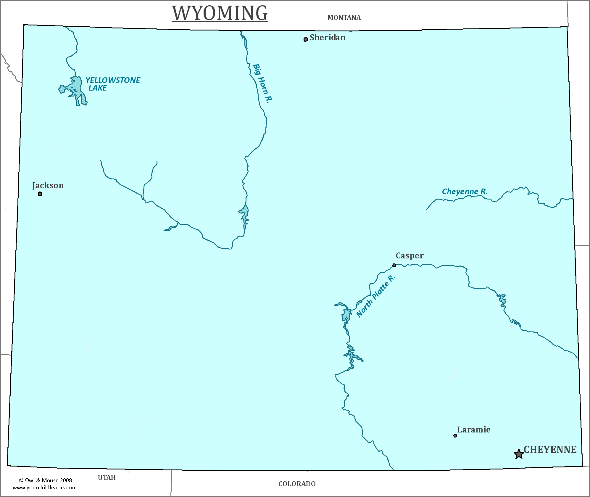 Wyoming State Map Map Of Wyoming And Information About The State